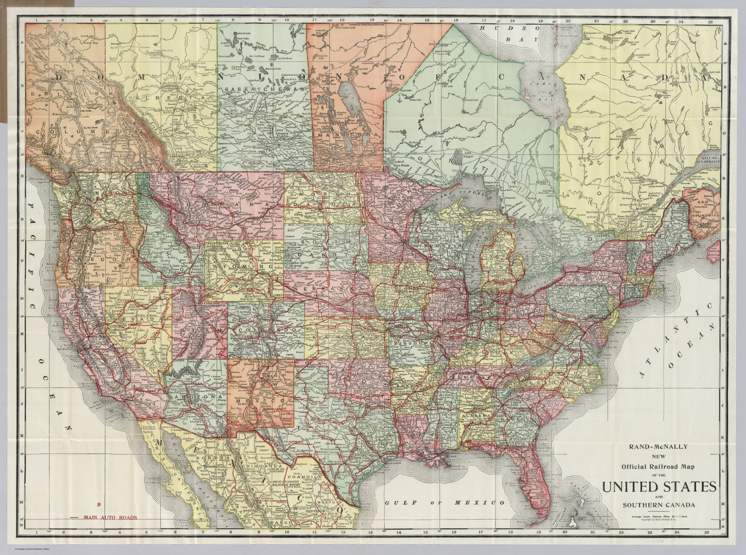 United States And Southern Canada David Rumsey Historical Map - Map of the united states and canada