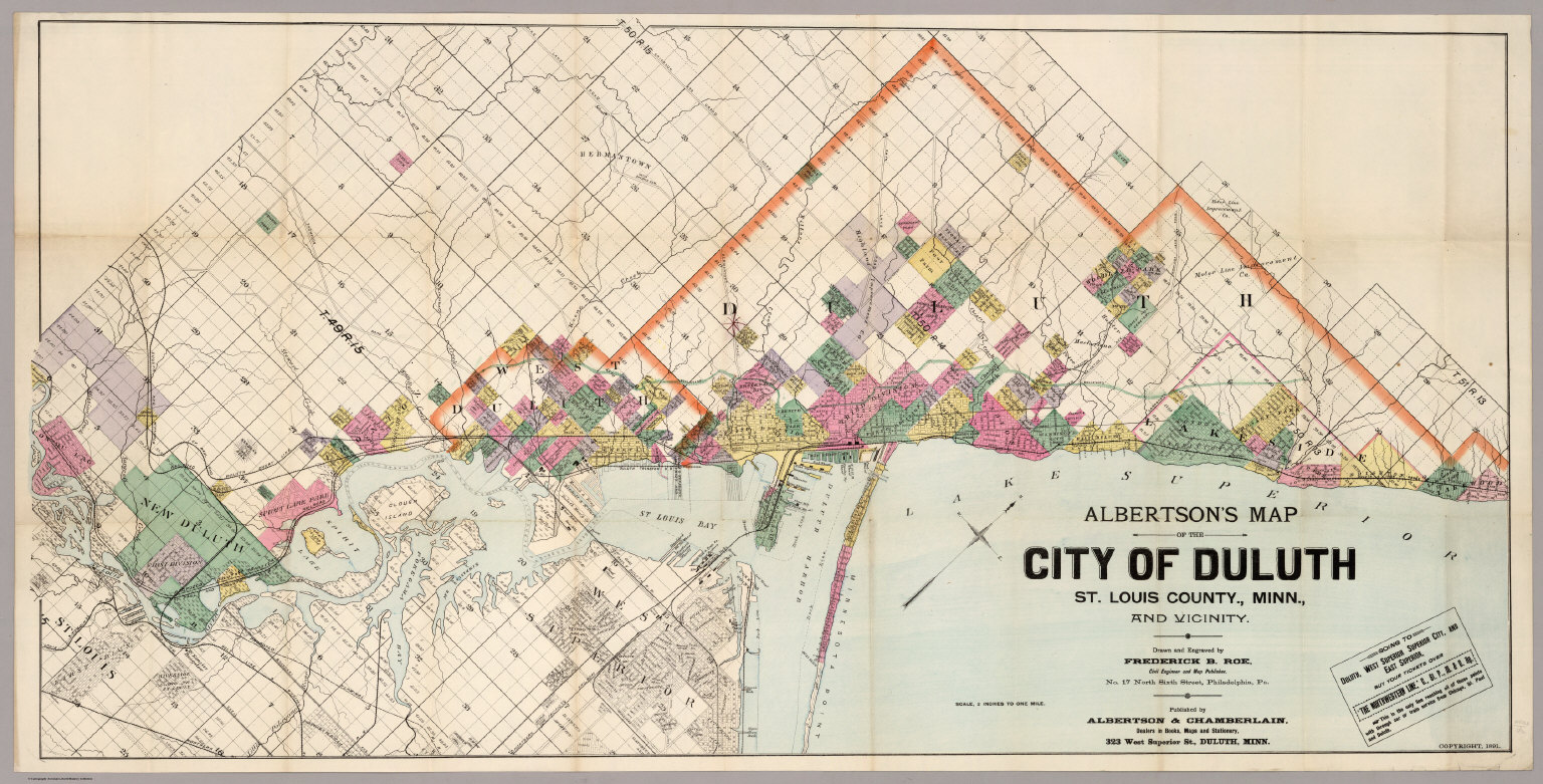Map Of The City Of Duluth St Louis County Minn David Rumsey - Minn map
