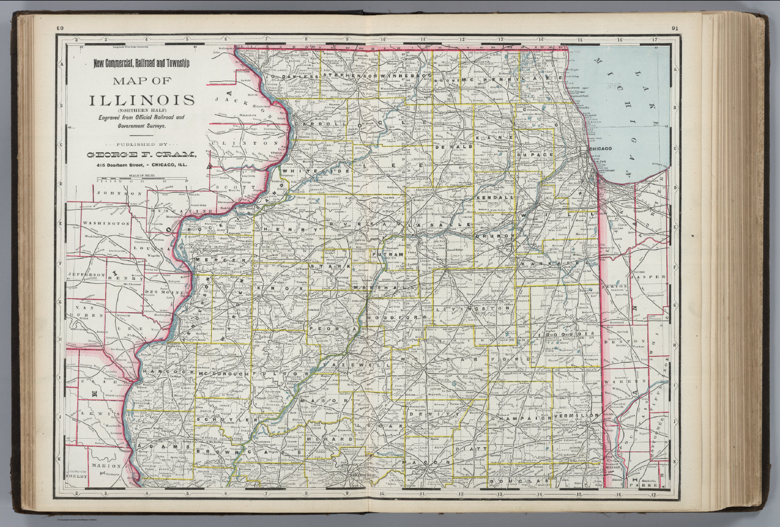 Illinois Northern Portion David Rumsey Historical Map Collection - Map of northern illinois