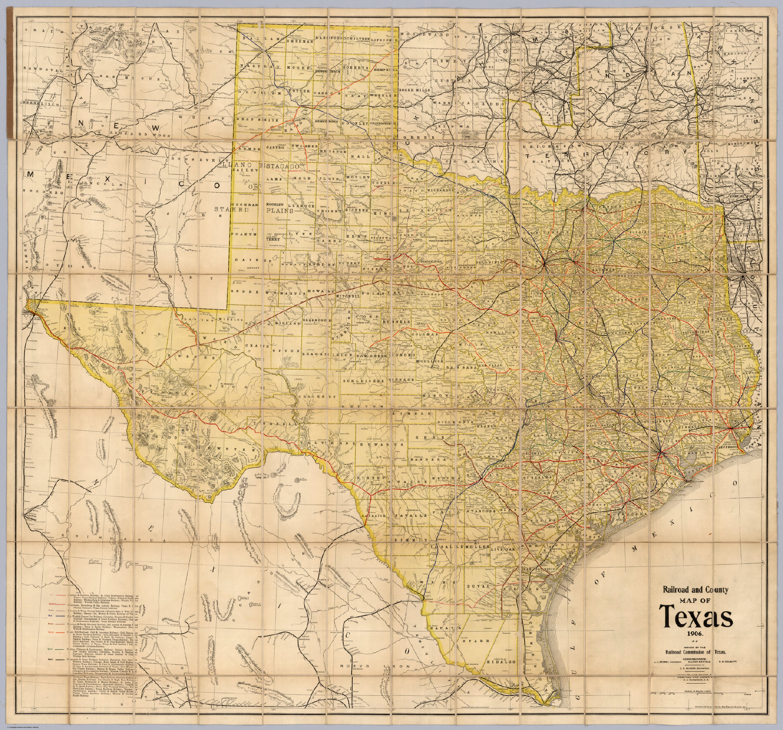 Railroad And County Map Of Texas David Rumsey Historical Map - County maps of texas