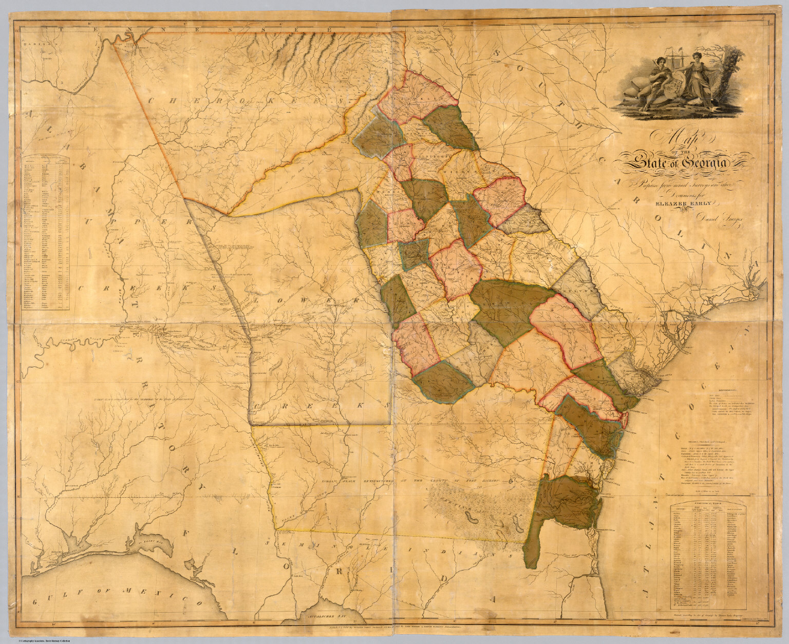 Map Of The State Of Georgia David Rumsey Historical Map Collection - State map georgia