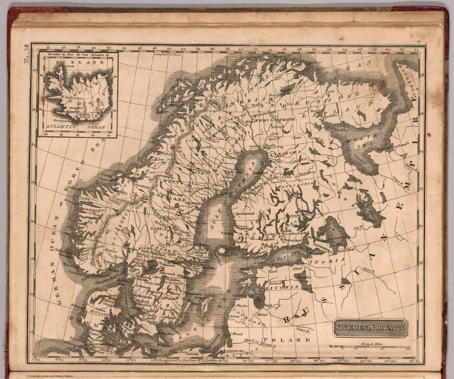Sweden And Norway David Rumsey Historical Map Collection - Sweden map history