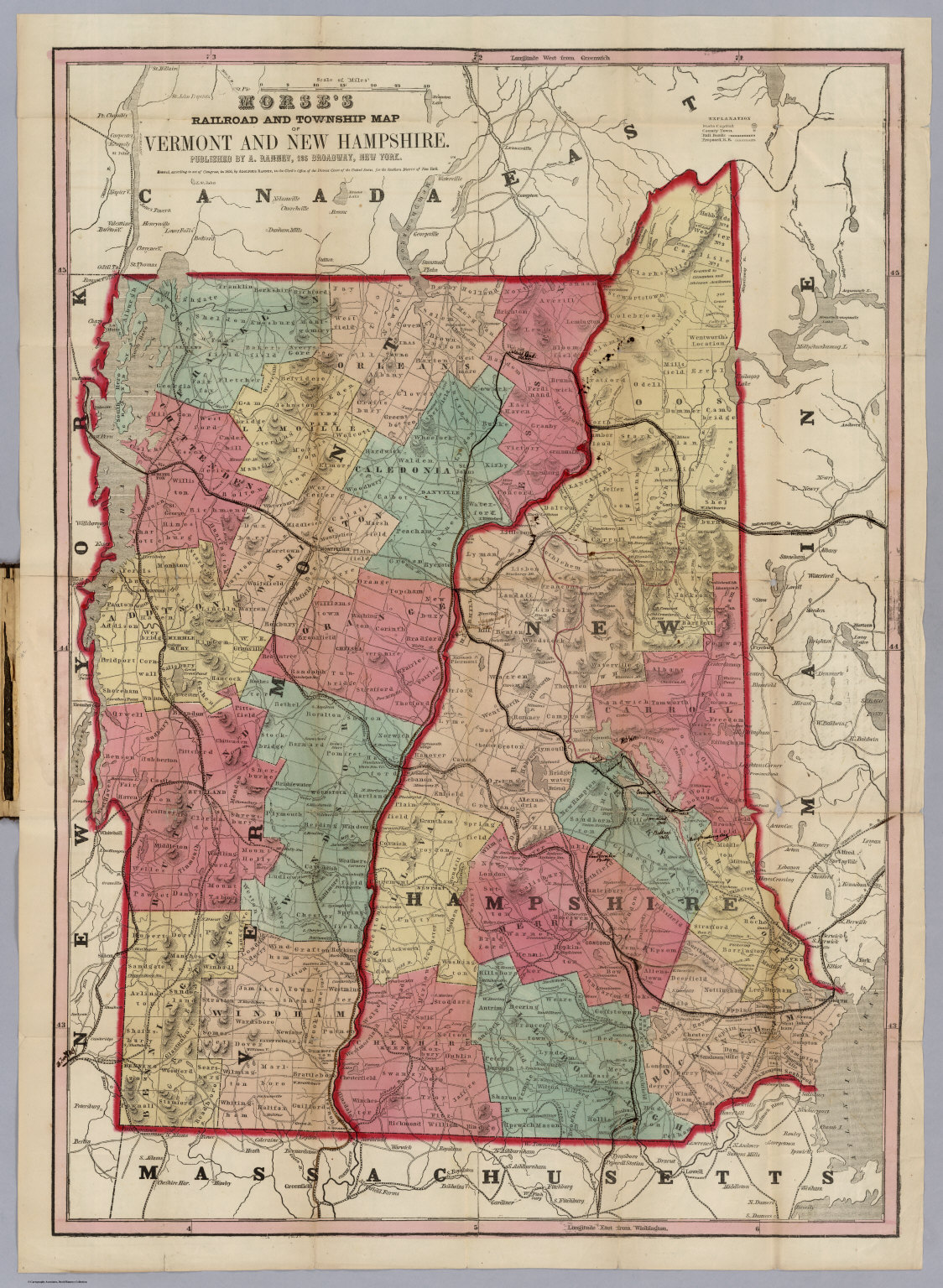 Map Of Vermont And New Hampshire David Rumsey Historical Map - Map of vermont and new hampshire