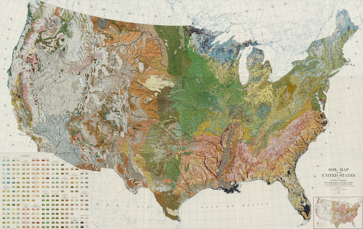 Composite Soil Map Of The United States Atlas Of American - Us map atlas