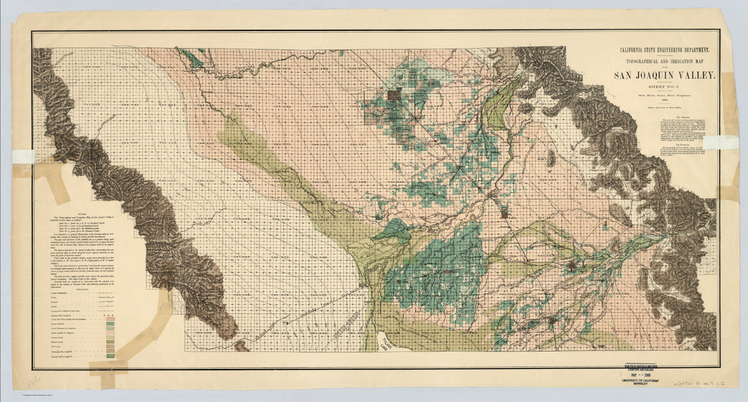 Sheet No 3 Southcentral Portion Irrigation Map of The San