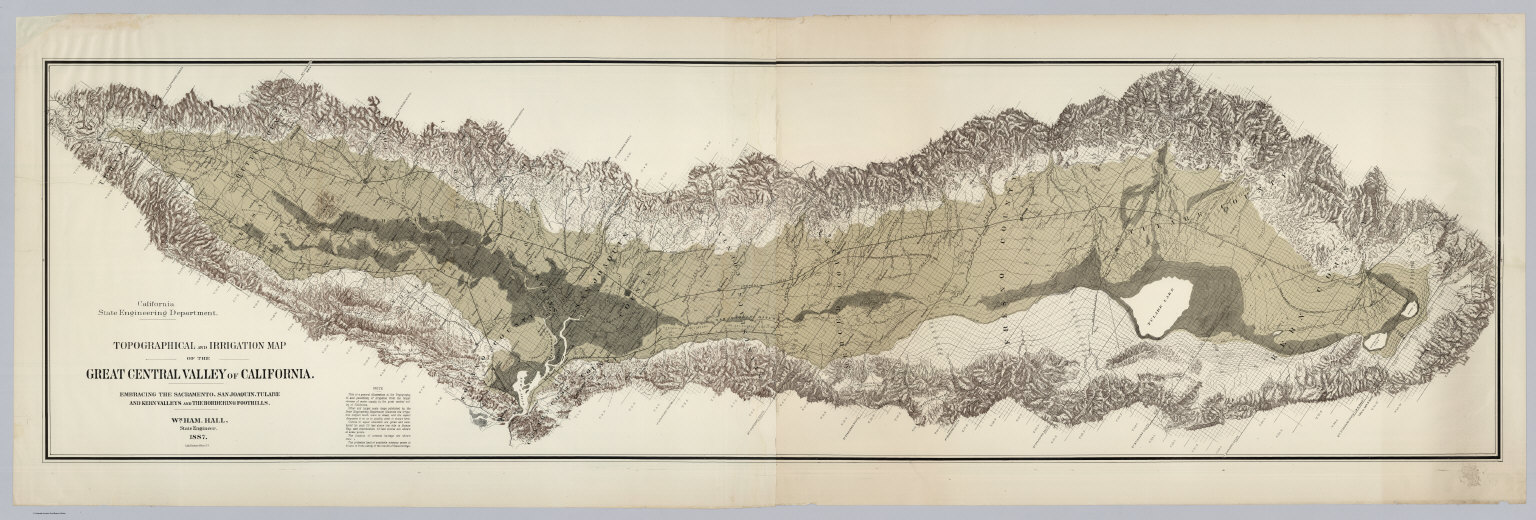 Topographical and Irrigation Map of the Great Central Valley of