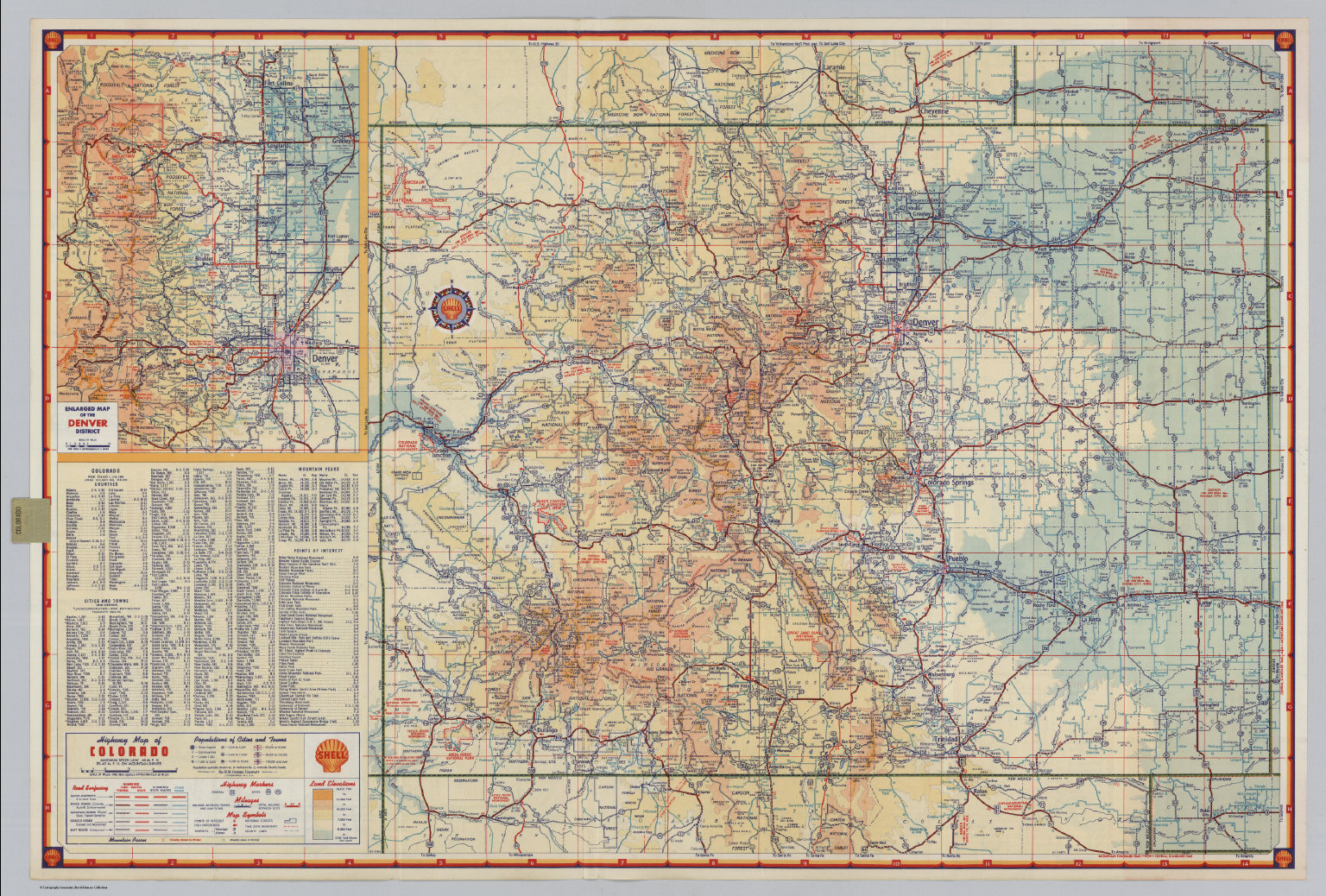 Shell Highway Map Of Colorado David Rumsey Historical Map - Colorado road map