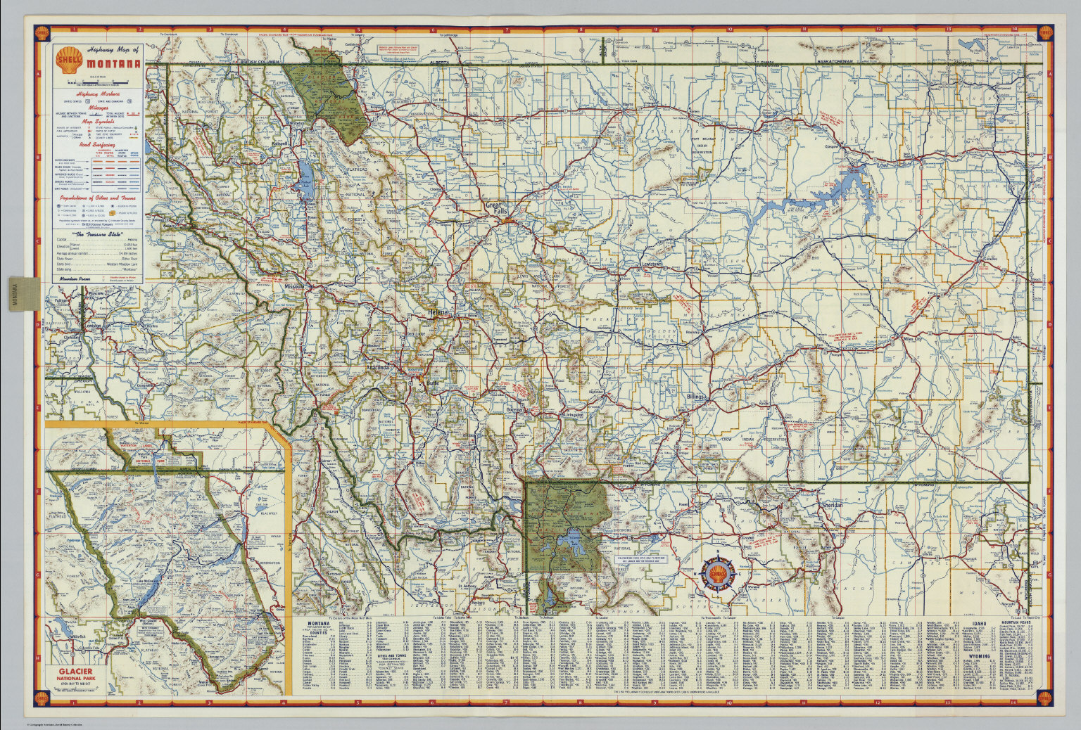 Shell Highway Map Of Montana David Rumsey Historical Map Collection - Map of montana