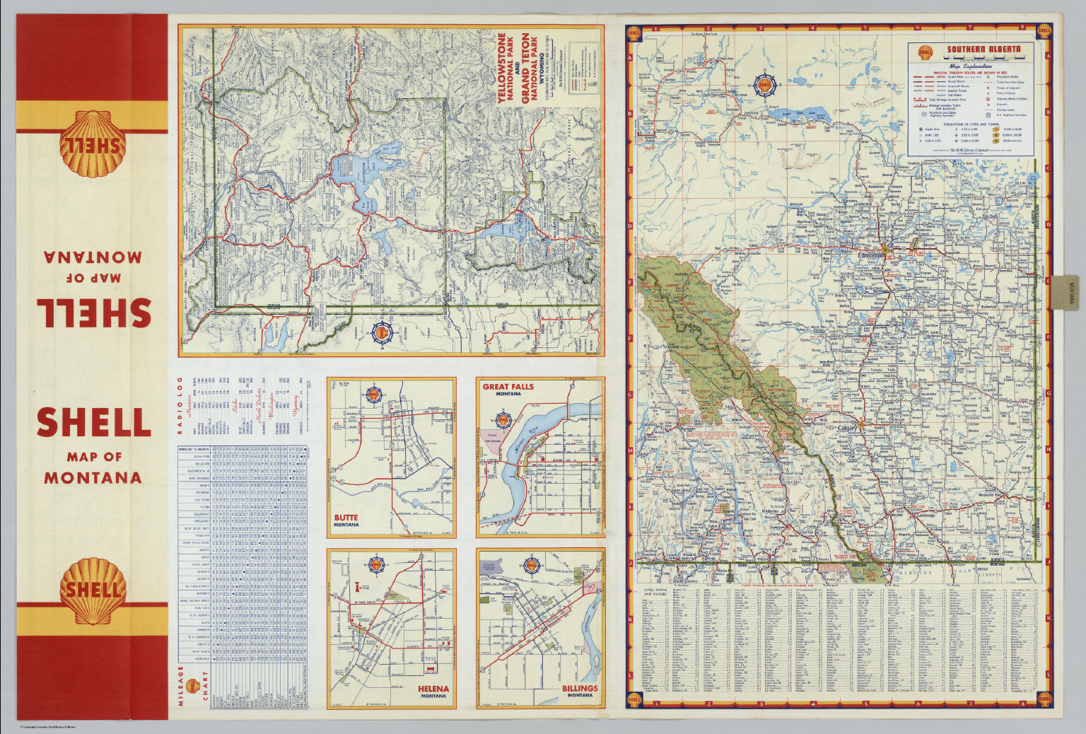 Various Regions And Cities In Montana And Alberta David Rumsey - Montana road map with cities