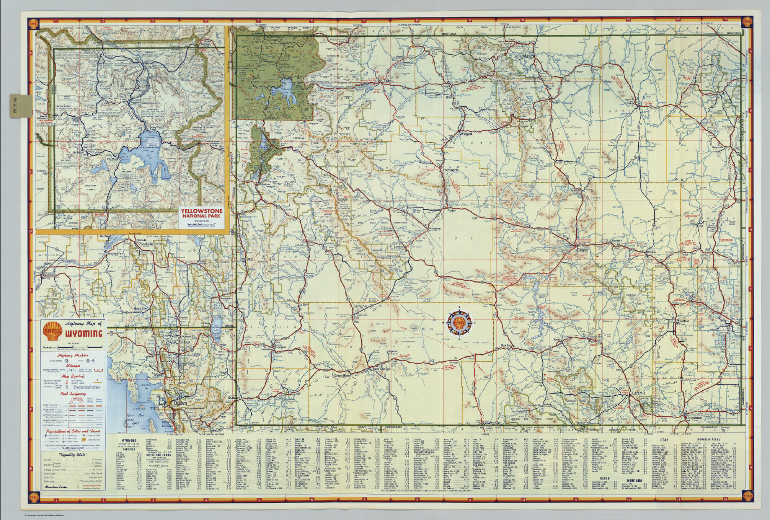 Shell Highway Map Of Wyoming David Rumsey Historical Map Collection - Wyoming highway map