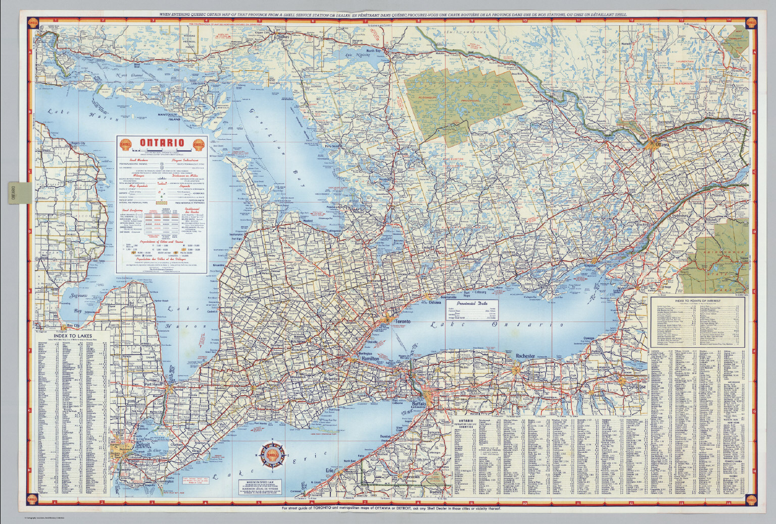 Shell Ontario Canada David Rumsey Historical Map Collection - Map of ontario canada