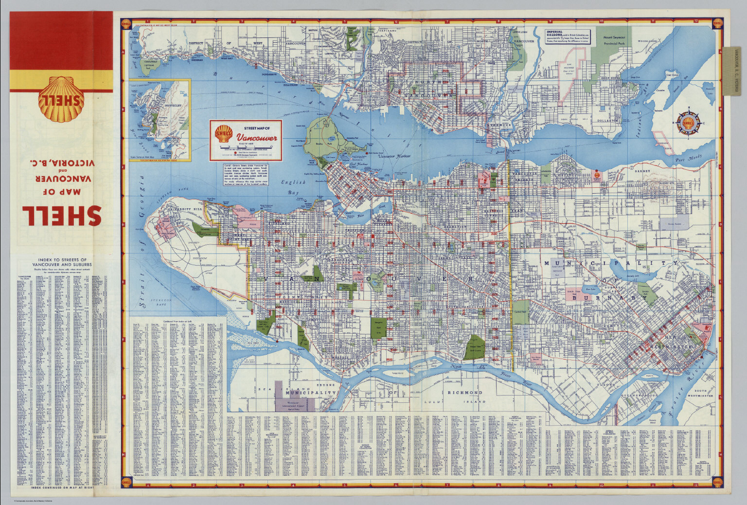 Shell Street Map Of Vancouver David Rumsey Historical Map