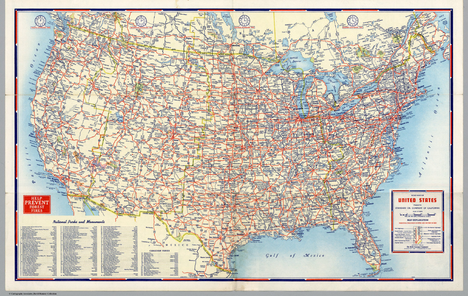 Road Map Of United States David Rumsey Historical Map Collection - Map of us with highways