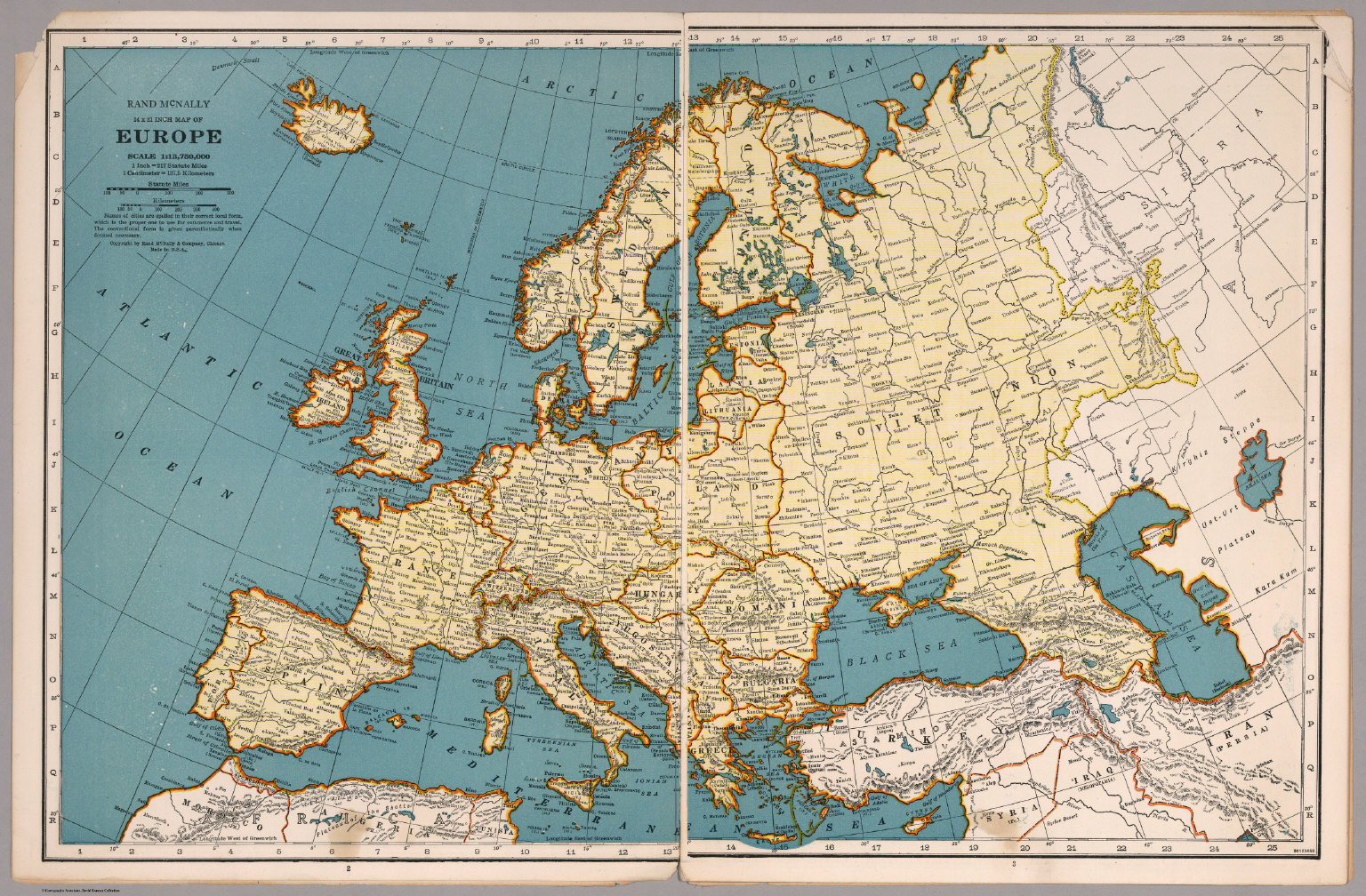 rand mcnally map of europe david rumsey historical map collection