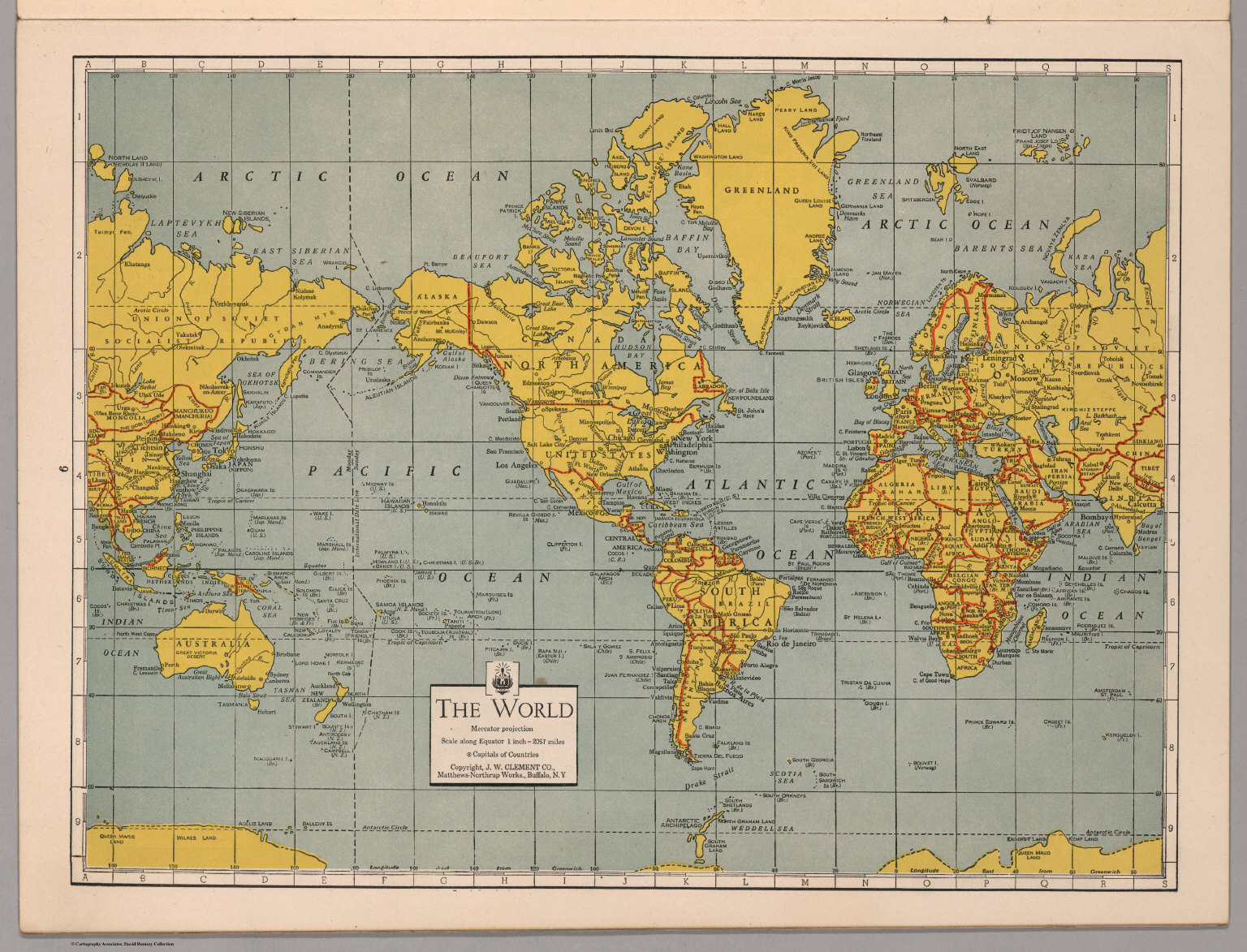 The World Mercator Projection  David Rumsey Historical Map