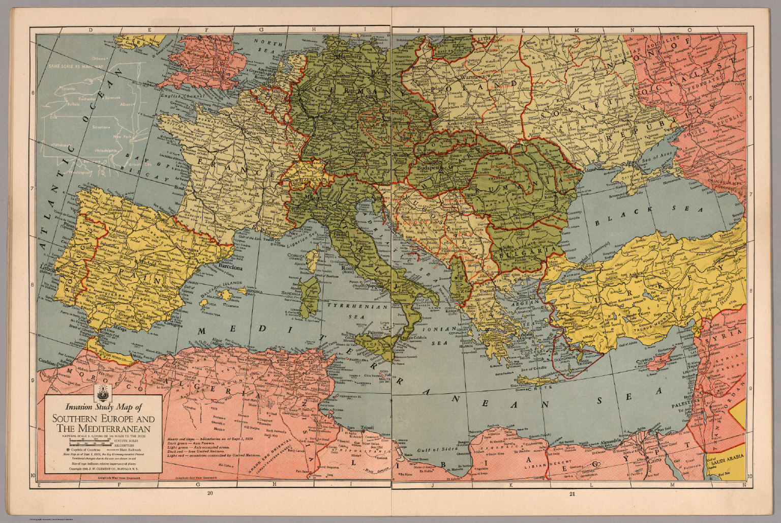 Invasion Study map of Southern Europe and Mediterranean  David
