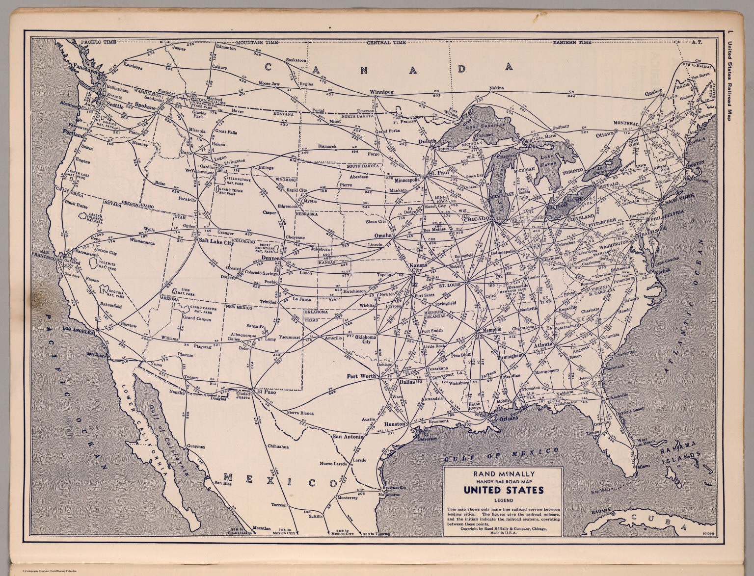 United States Railroad map David Rumsey Historical Map Collection
