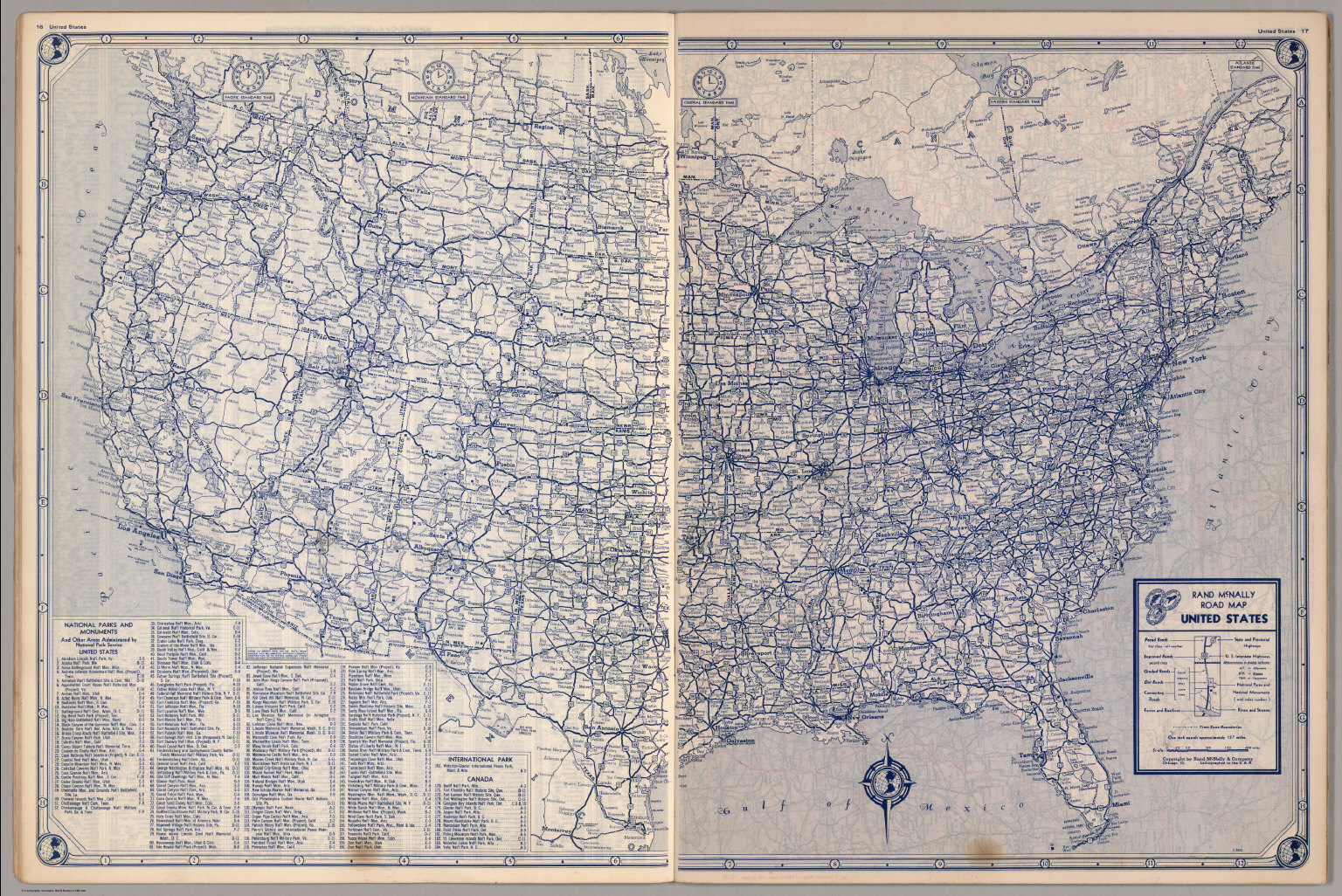 United States Road Map David Rumsey Historical Map Collection - Us map roads