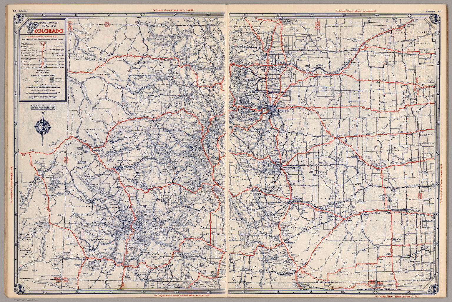 Road Map Of Colorado David Rumsey Historical Map Collection - Map of colorado
