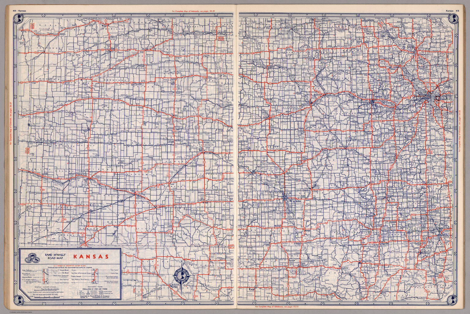 Road Map Of Kansas David Rumsey Historical Map Collection - Road map of kansas