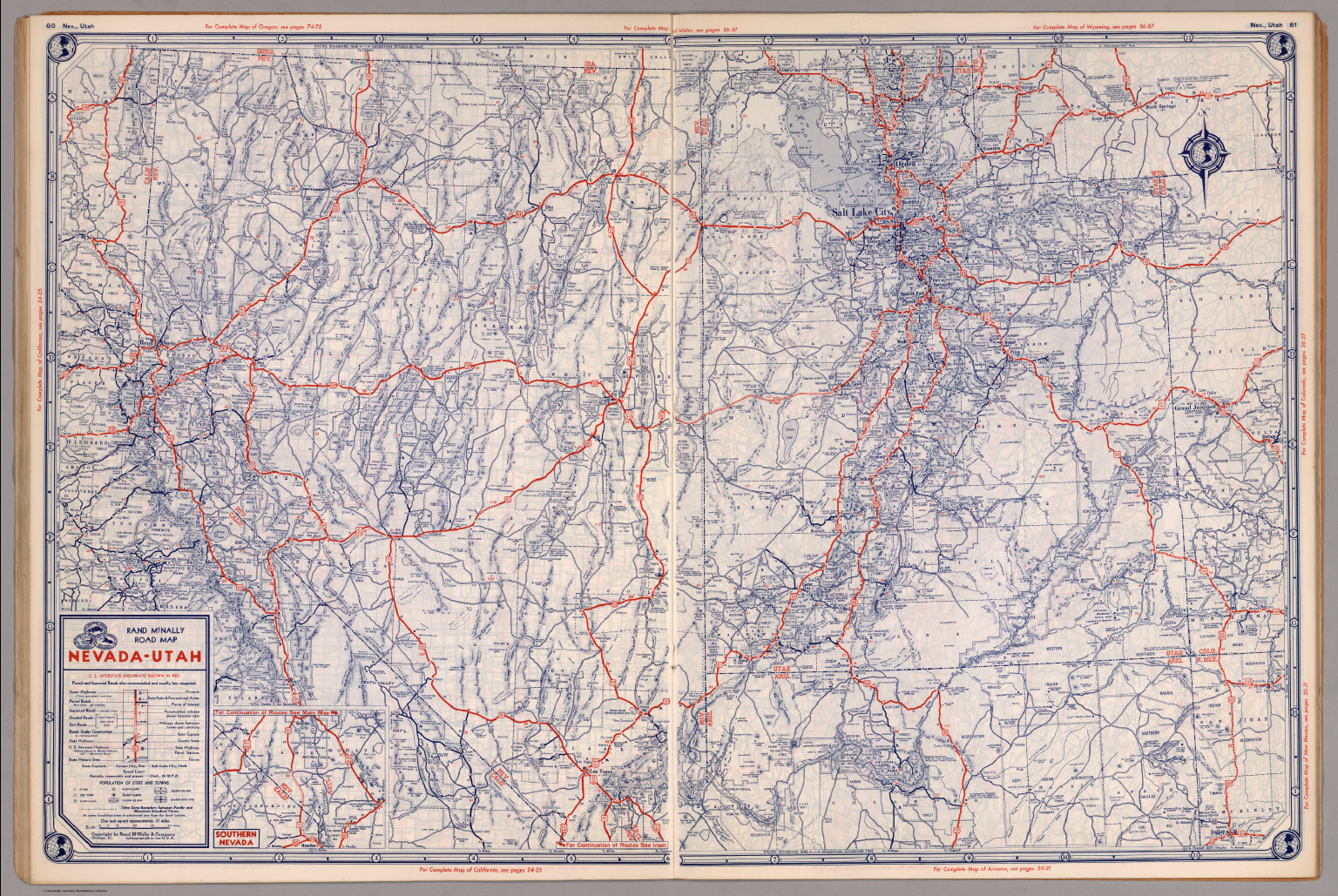 Road Map Of NevadaUtah David Rumsey Historical Map Collection - Map of nevada