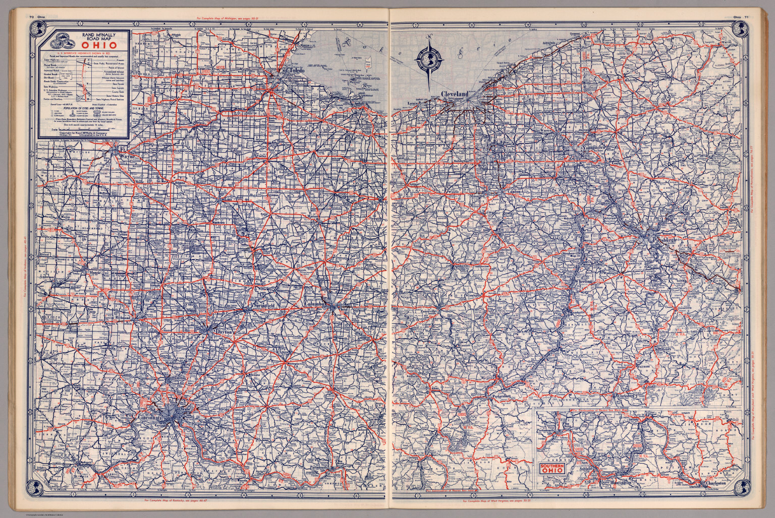 Road Map Of Ohio David Rumsey Historical Map Collection - Ohio road map