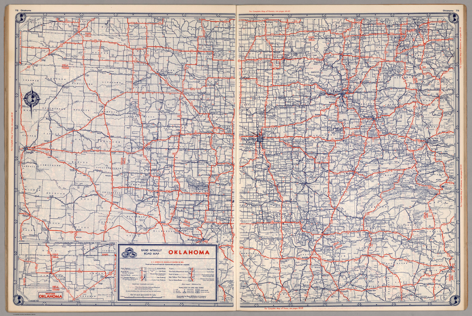 Road Map Of Oklahoma David Rumsey Historical Map Collection - Oklahoma road map