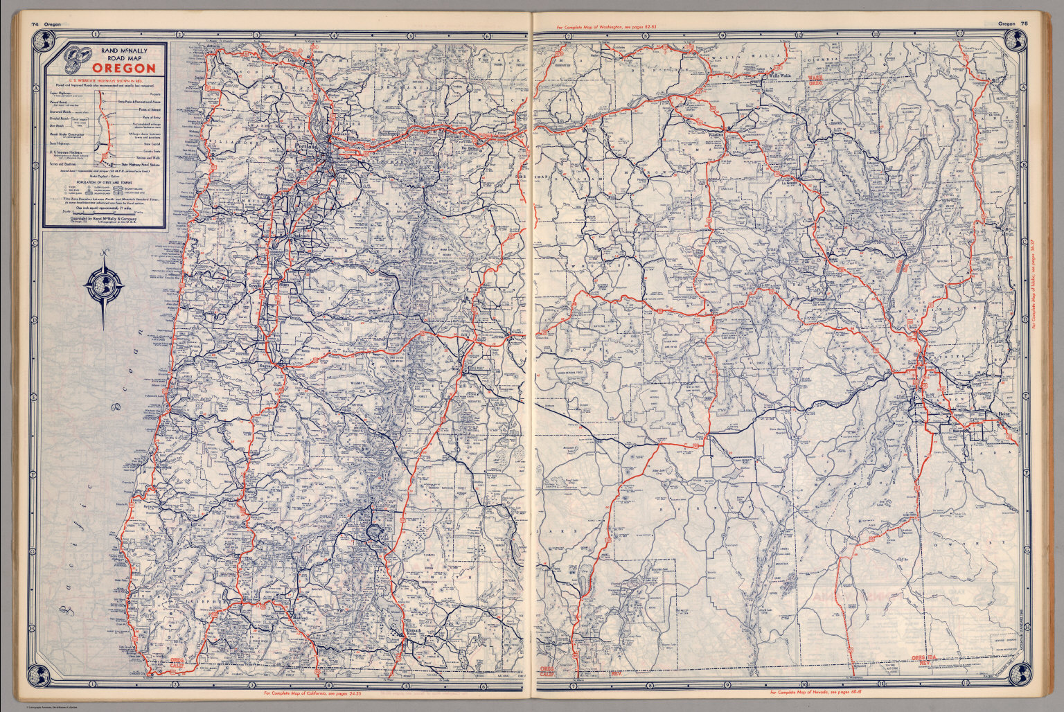 Road Map Of Oregon David Rumsey Historical Map Collection - Oregon road maps