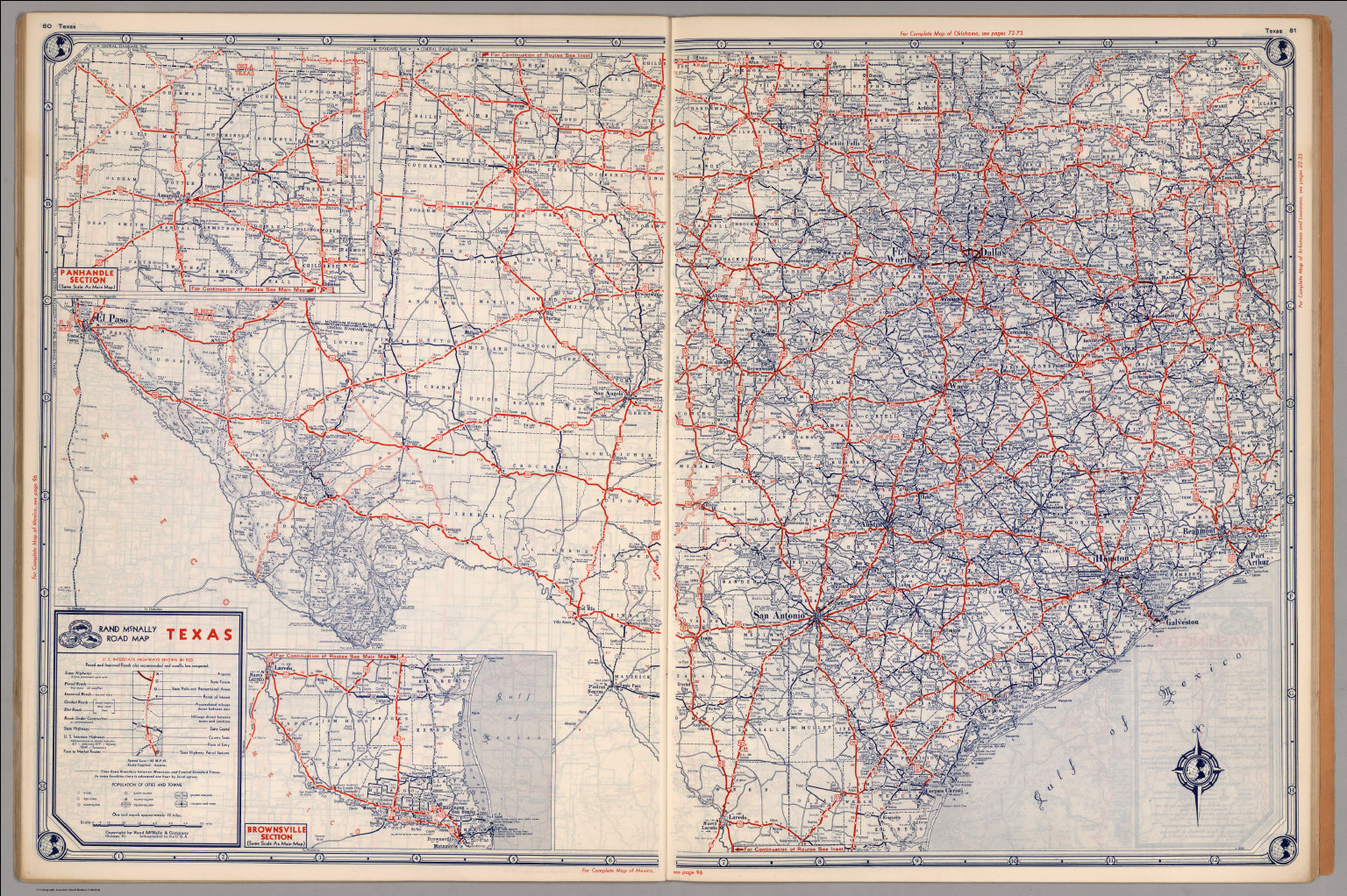 Road Map Of Texas David Rumsey Historical Map Collection - Road maps of texas