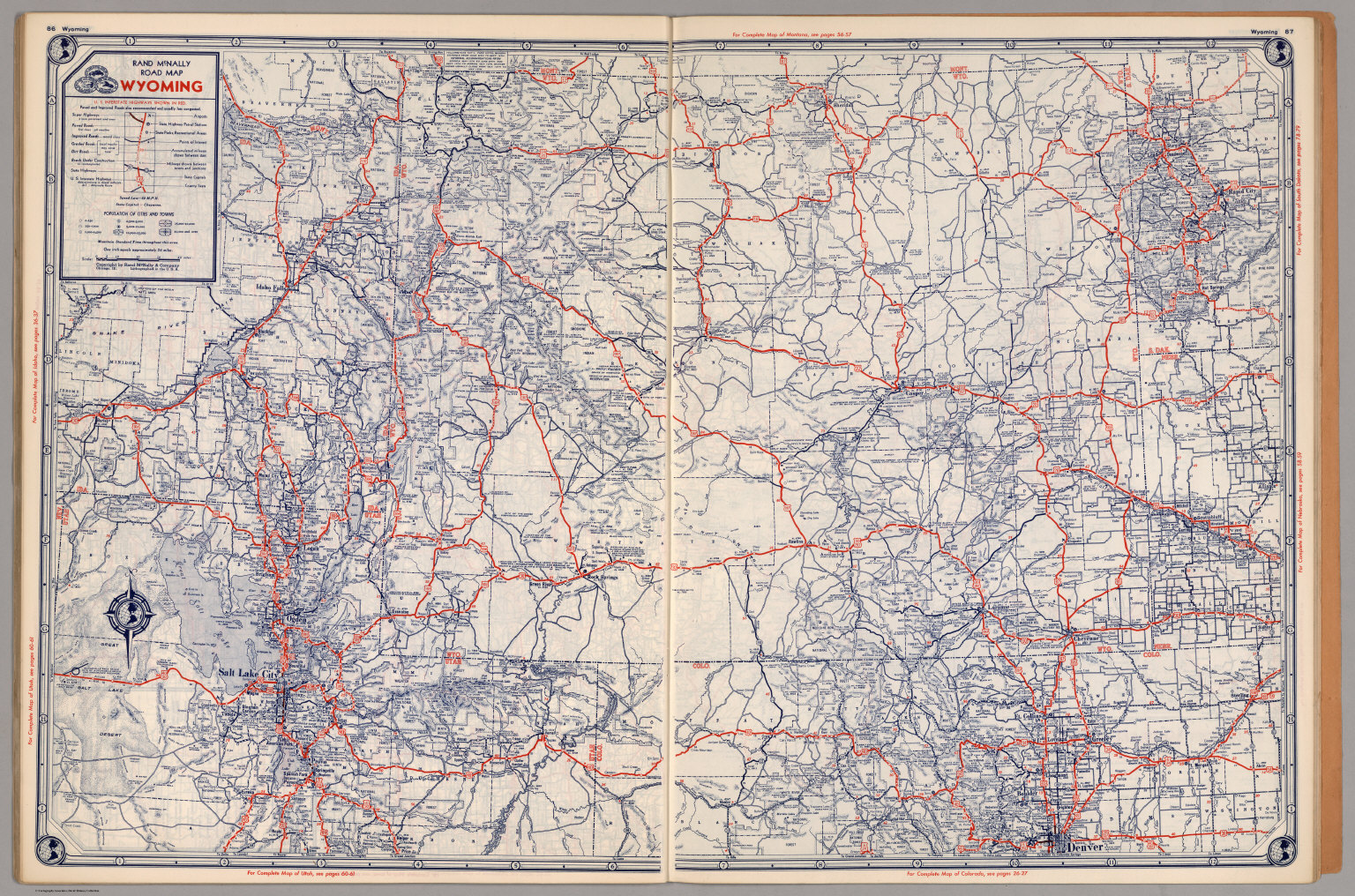 Road Map Of Wyoming David Rumsey Historical Map Collection - Map if wyoming