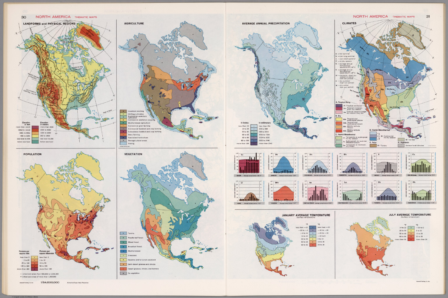 North America Thematic Maps David Rumsey Historical Map Collection - Map of north america