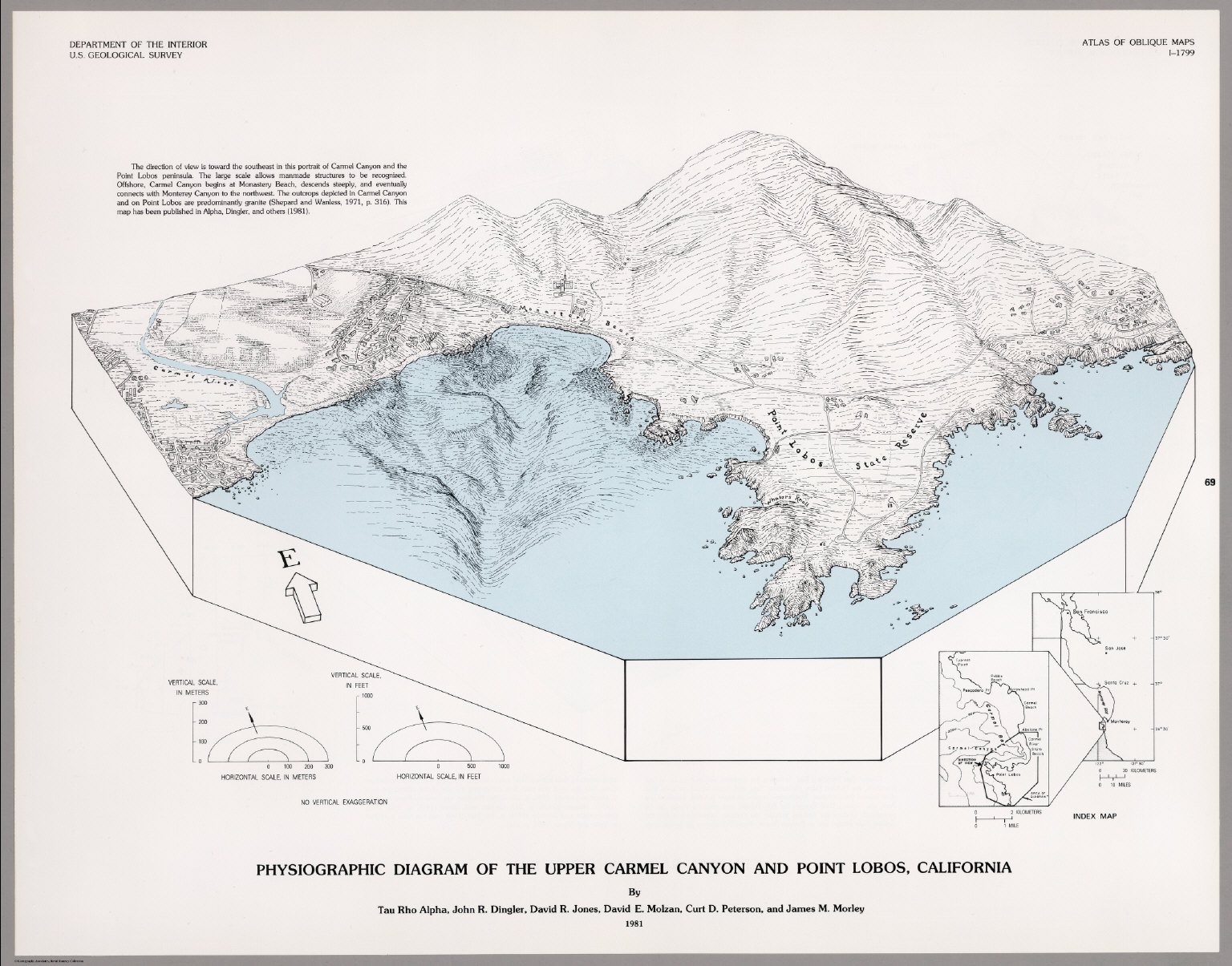 Physiographic diagram of the upper carmel canyon and point lobos physiographic diagram of the upper carmel canyon and point lobos california ccuart Choice Image