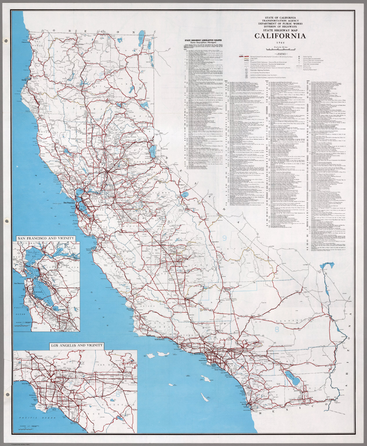 State Highway Map California David Rumsey Historical Map - California state map