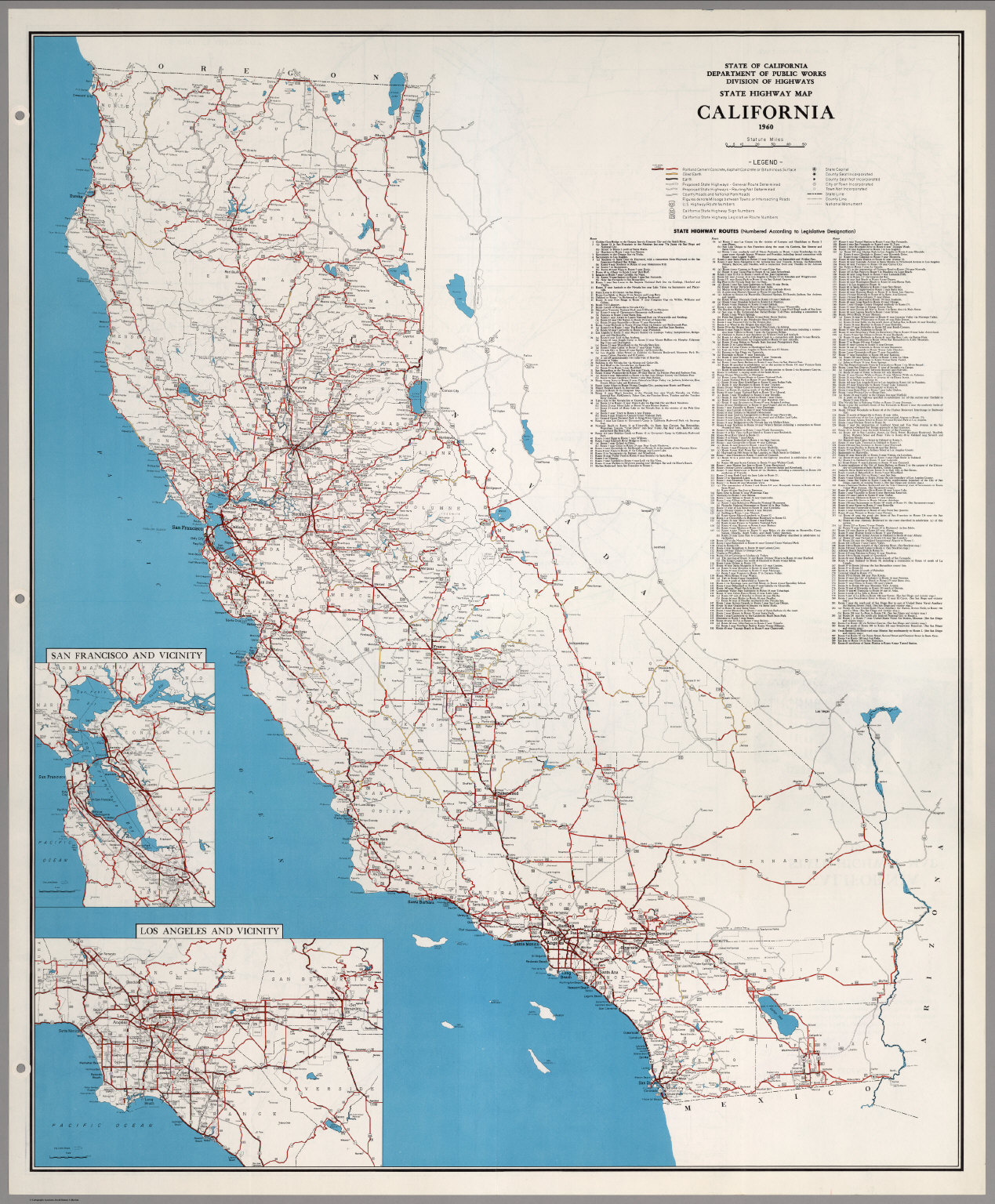 State Highway Map California David Rumsey Historical Map - Map california