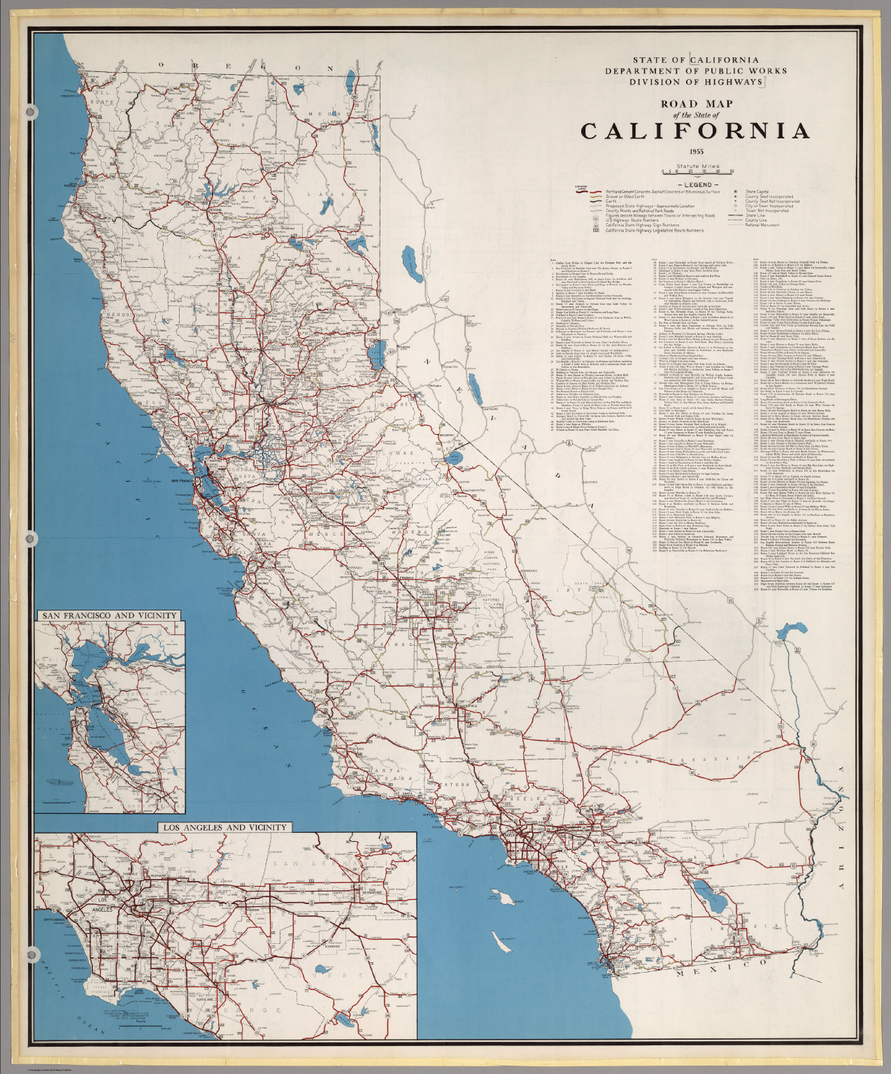Road Map Of The State Of California David Rumsey - Road map california