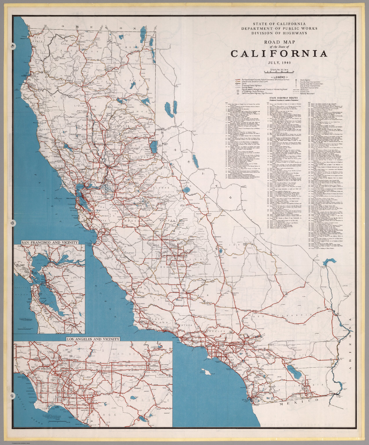 Road Map Of The State Of California July David Rumsey - Map of ca