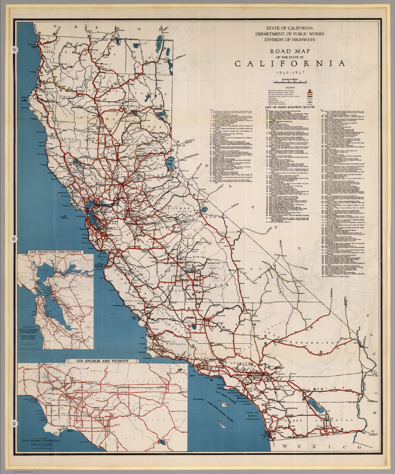Road Map Of The State Of California David Rumsey - Map of california highways