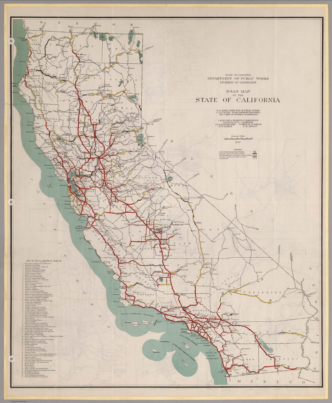 Road Map Of The State Of California David Rumsey - Map of the state of california