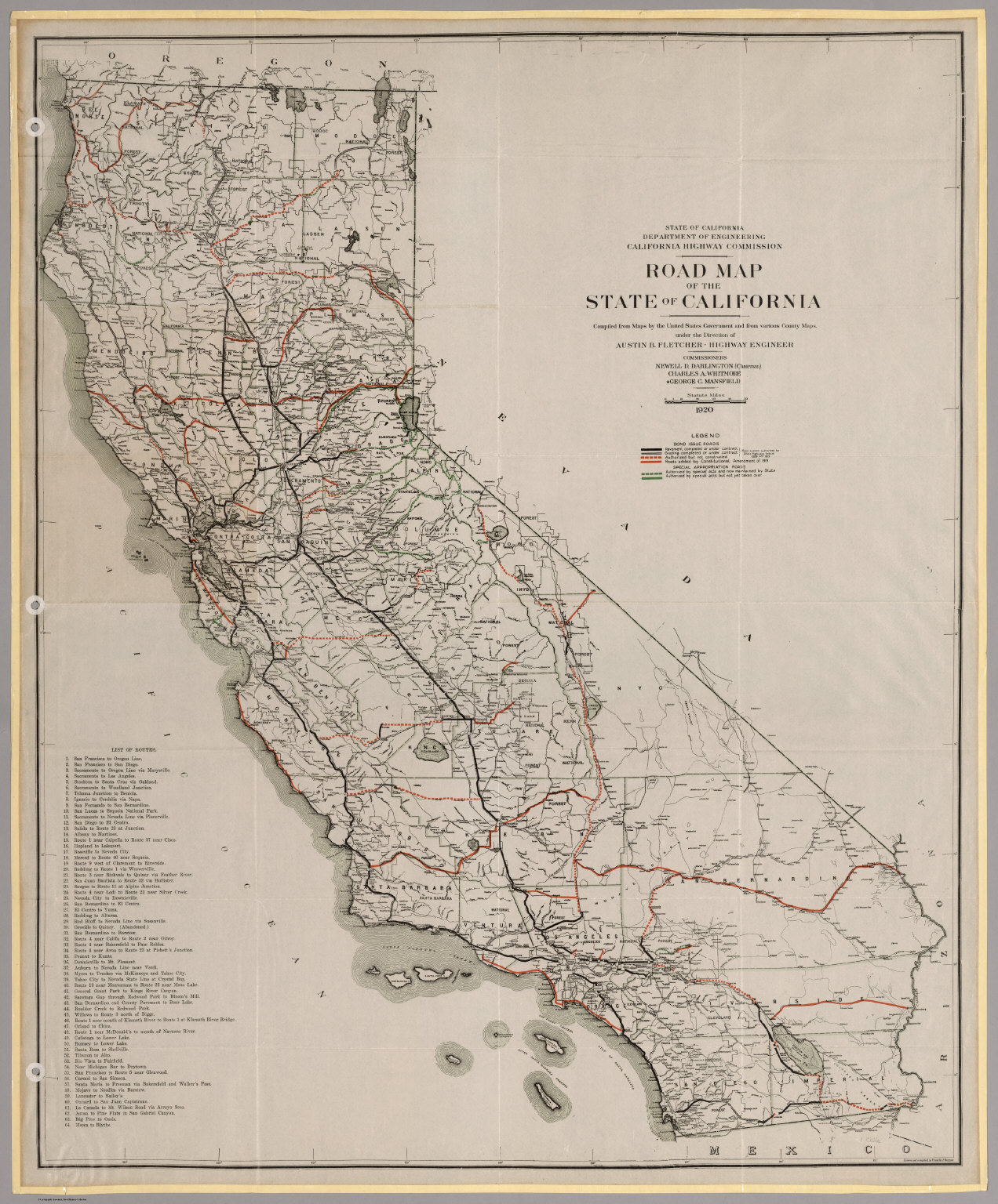 Road Map Of The State Of California David Rumsey - Highway map of california