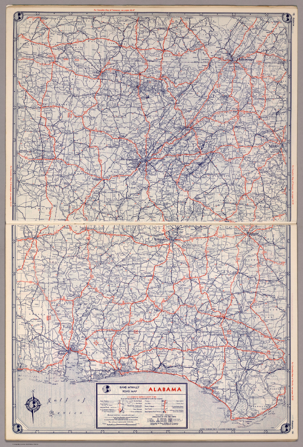 Rand McNally Road Map Alabama David Rumsey Historical Map - Road map of alabama