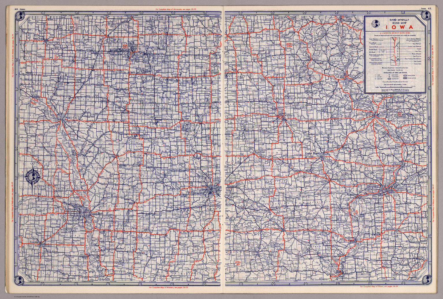 Rand McNally Road Map Iowa David Rumsey Historical Map Collection - Road map of iowa