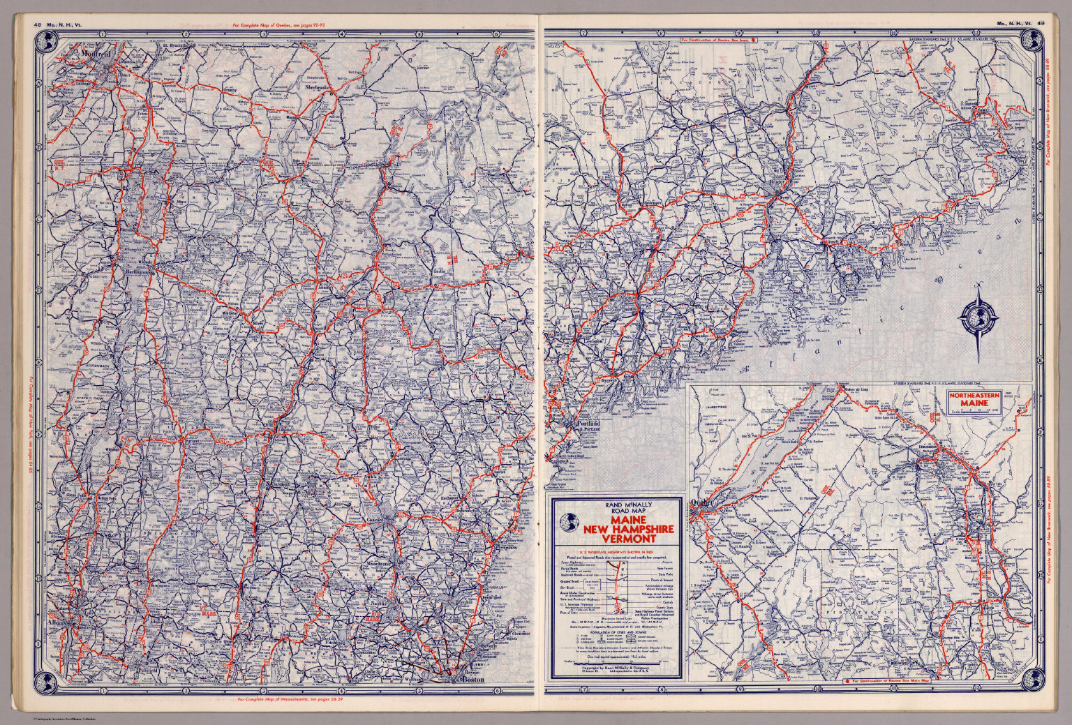 Rand McNally Road Map Maine New Hampshire Vermont David - Road map of nh