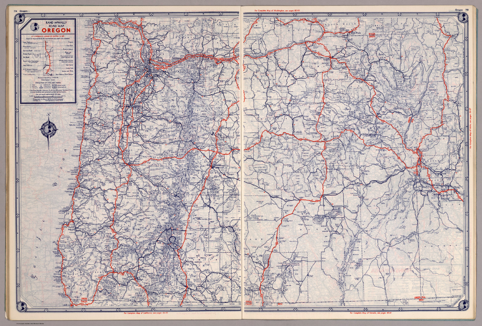 Rand McNally Road Map Oregon David Rumsey Historical Map Collection - Oregon road maps