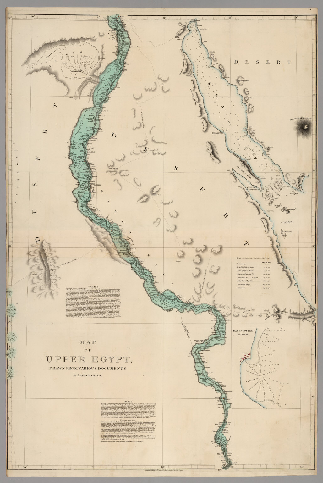 Map Of Upper Egypt Drawn From Various Documents David Rumsey - Map of upper egypt