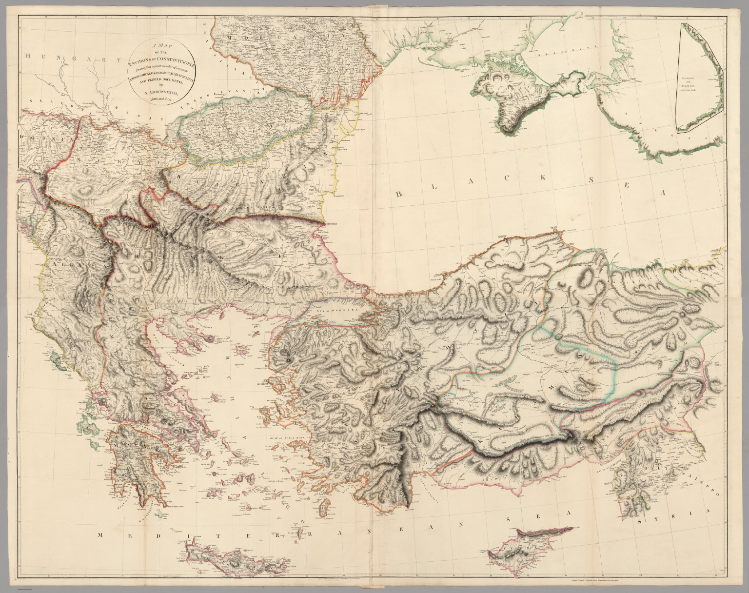 Composite A Map Of The Environs Of Constantinople David Rumsey - Picture of a map