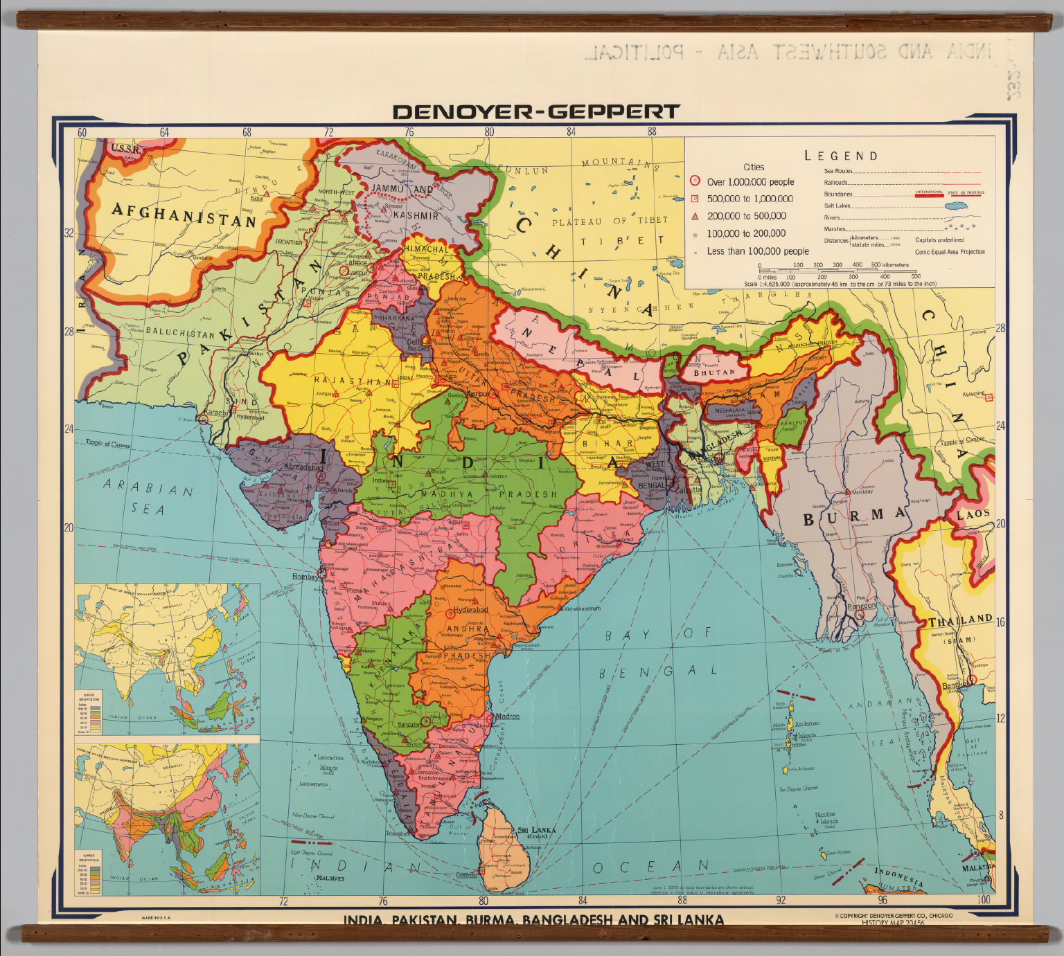 India and Southwest Asia  Political  David Rumsey Historical
