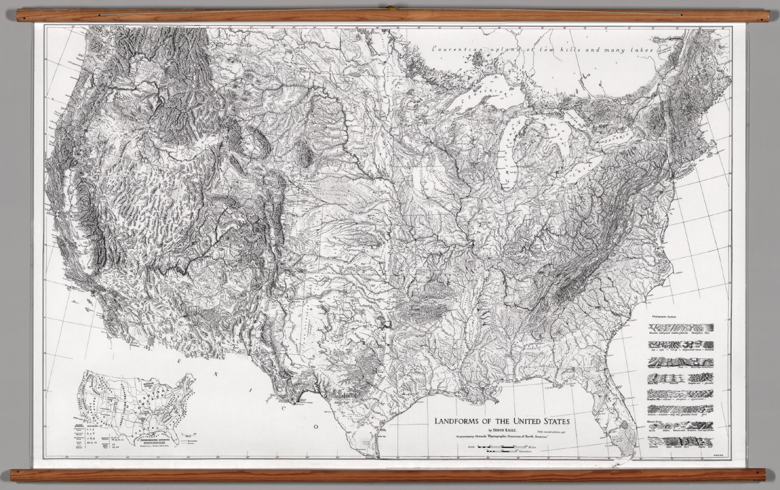 United States Physical Landforms Raisz David Rumsey - Landforms of the united states