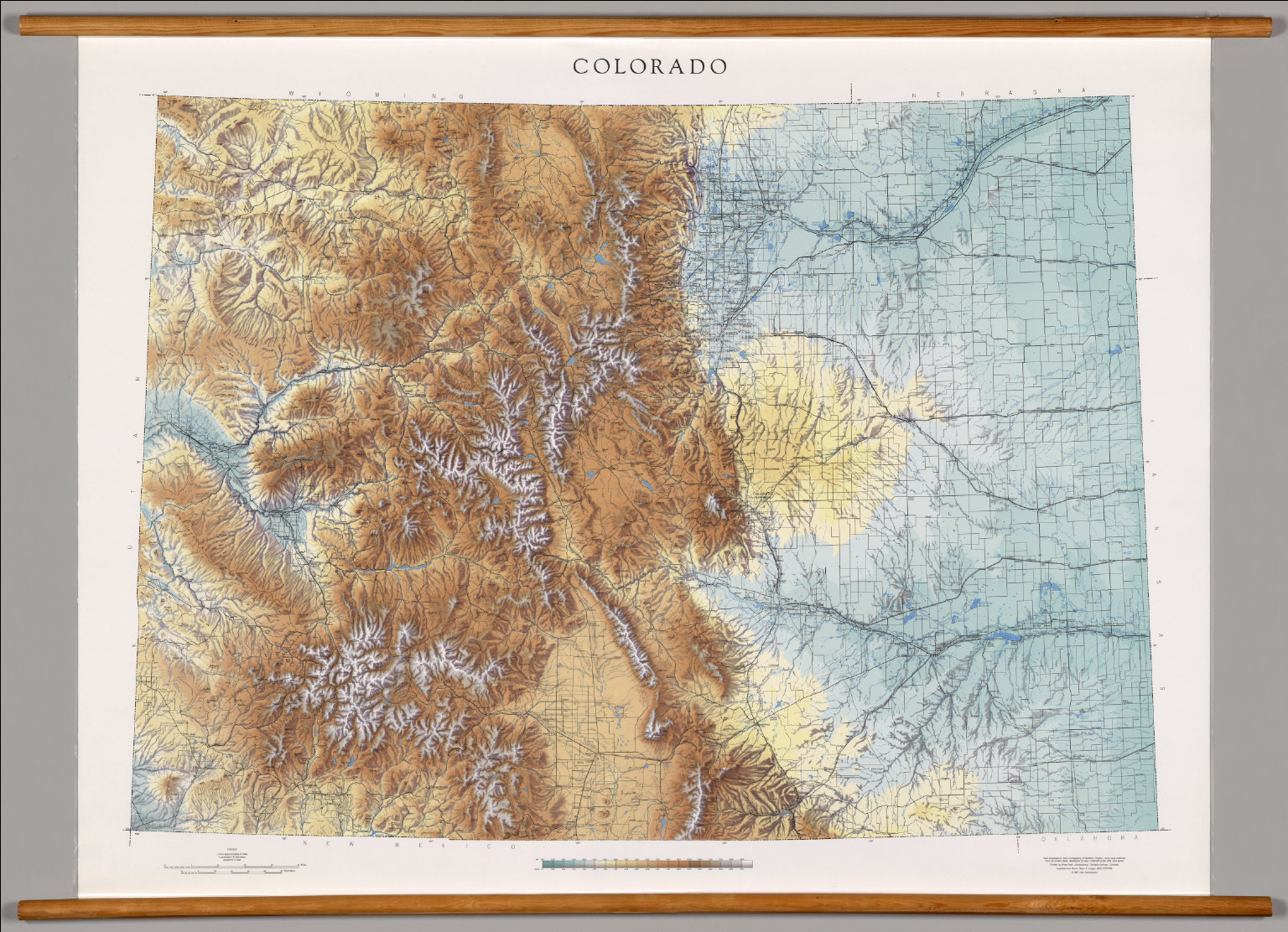 Colorado  Physical  David Rumsey Historical Map Collection