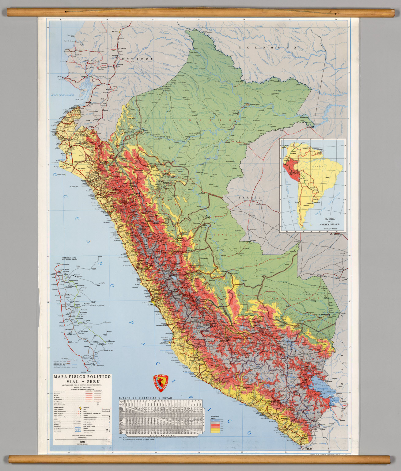 Peru Physical David Rumsey Historical Map Collection - Physical map of peru