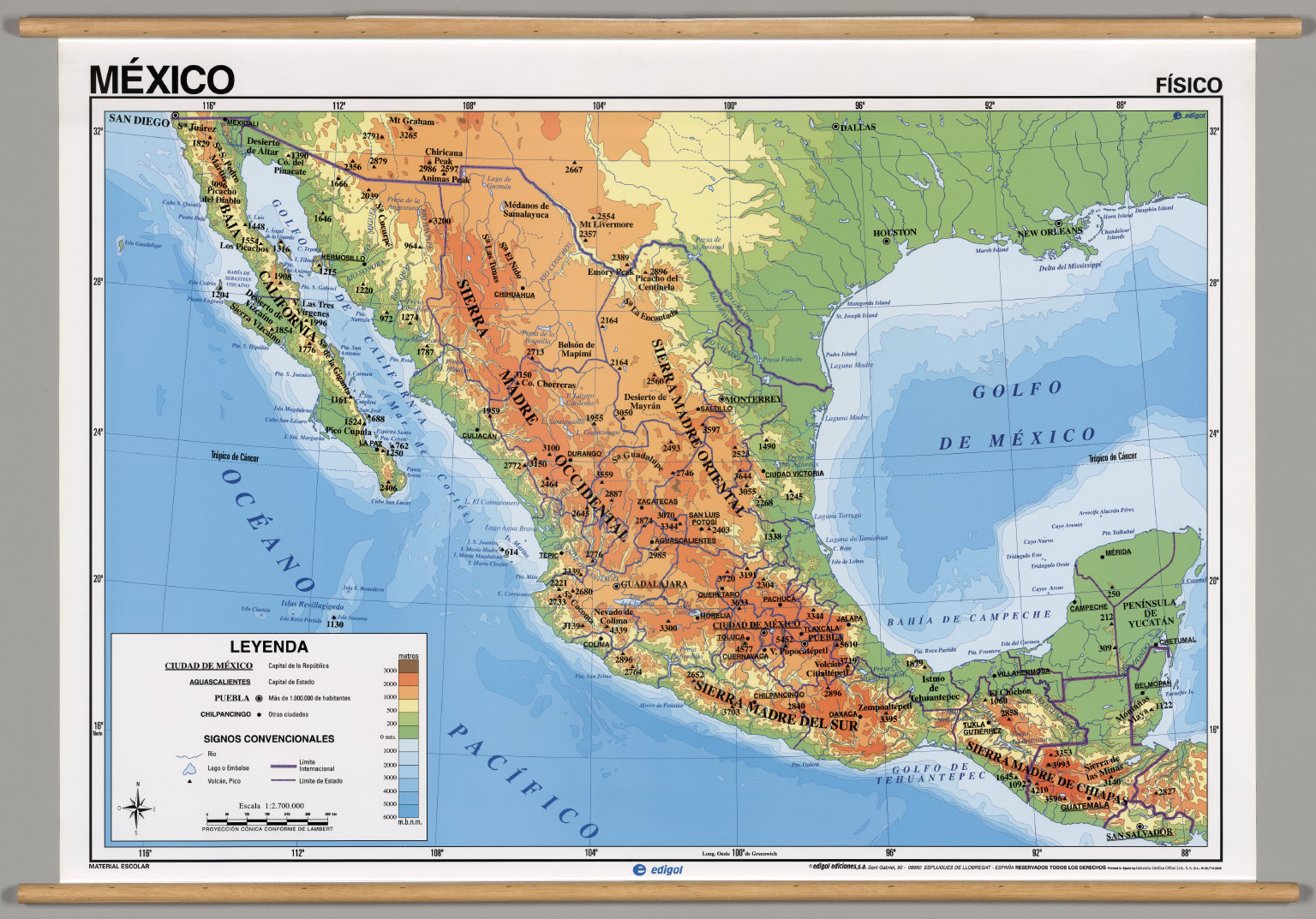 Mexico Physical David Rumsey Historical Map Collection - Mexico physical map